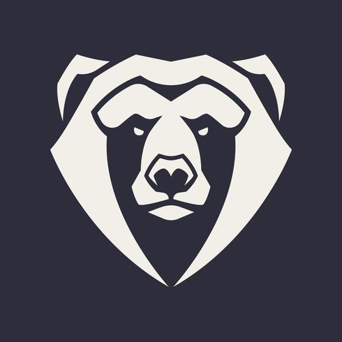 björn maskot vektorikonen vektor