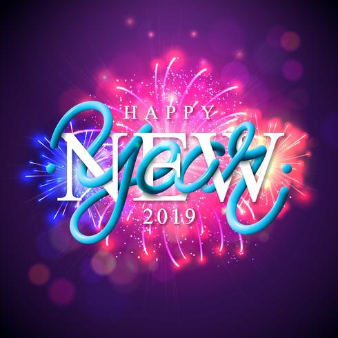 Gott nytt år 2019 vektor