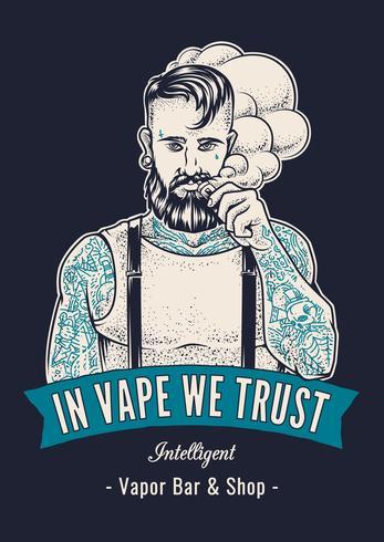 Vaper Hipster Art.-Nr. vektor