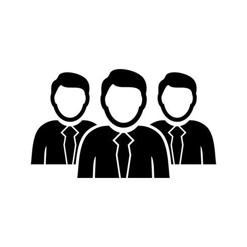 Team glyph black icon vektor