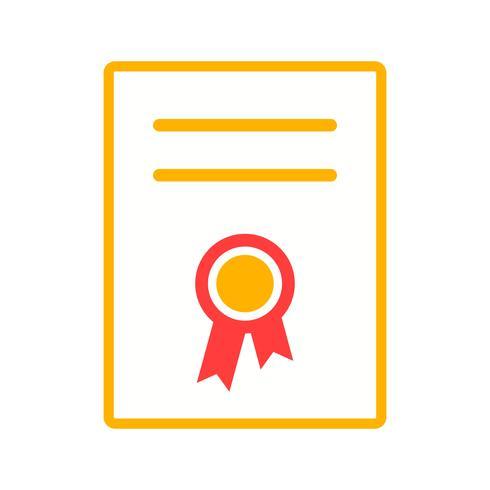 Zertifikat flach Symbol vektor
