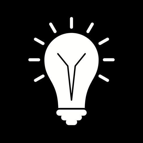 vektor glödlampa ikon
