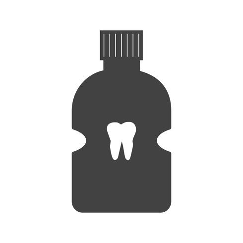 Zahnmedizinische Glyphe schwarze Ikone vektor