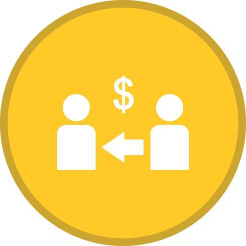 Marketing-Partner gefüllt Symbol vektor