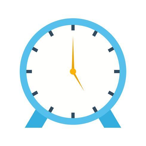 Flaches multi Farbsymbol der Uhr vektor