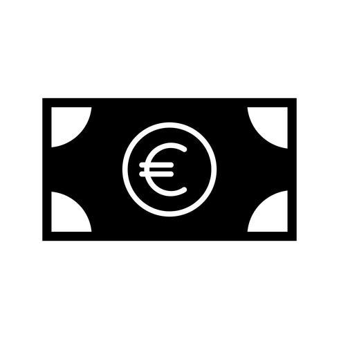 Währungssymbol Glyphe schwarz vektor