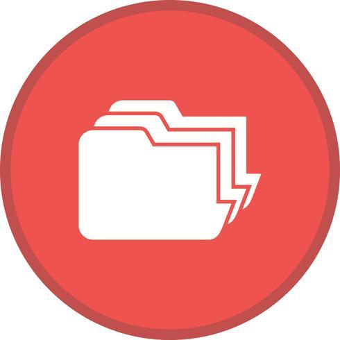 Dateiverwaltung gefüllt Multi Color Hintergrundsymbol vektor