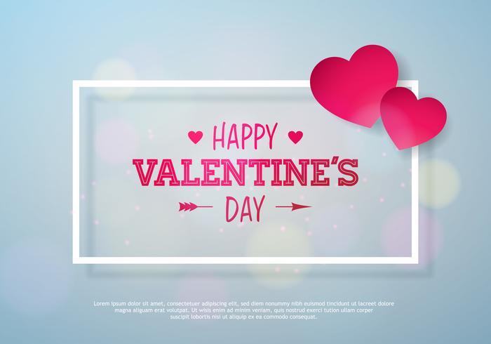 Happy Valentinstag Design vektor