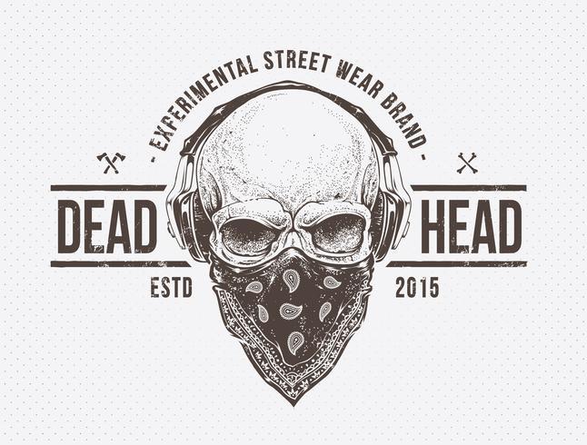 döda huvudet vektor