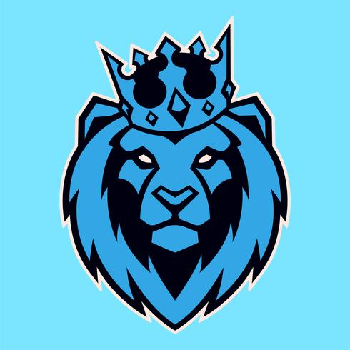 Lion i Crown Vector Mascot