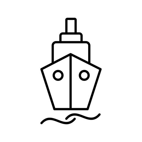 Schiffslinie schwarzes Symbol vektor