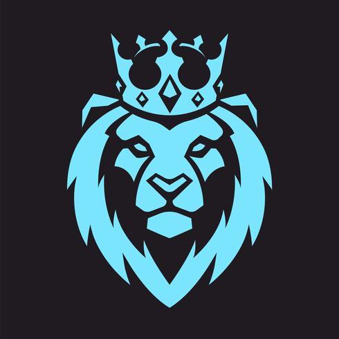 Löwe im Kronen-Vektor-Maskottchen vektor
