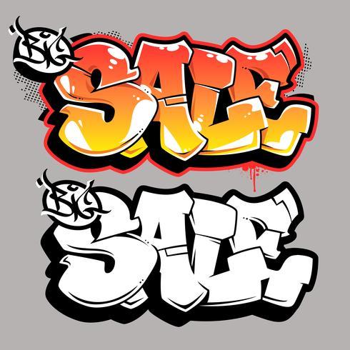 Große Verkaufs-Graffiti-Vektor-Beschriftung vektor