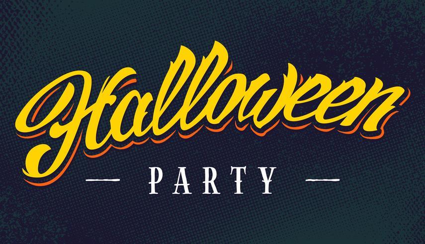 Halloween-Party-Vektor-Schriftzug vektor