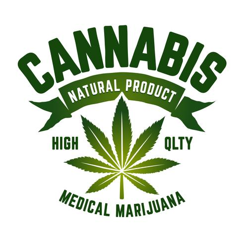 Cannabis-Vektor-Emblem vektor