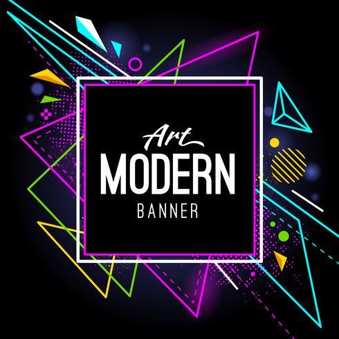 Moderne Kunst Banner vektor
