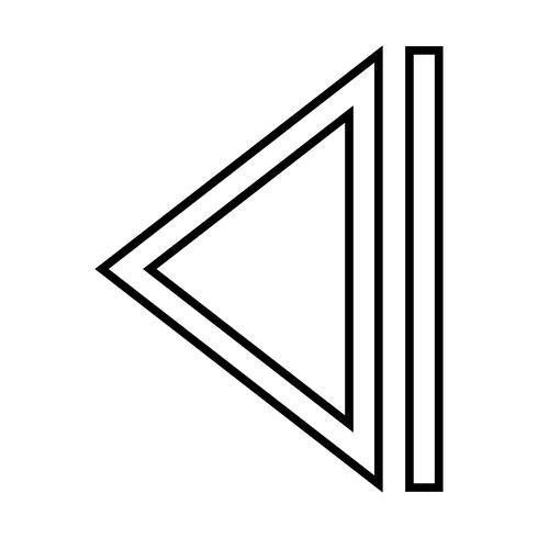 Schwarze Linie des Pfeils hinterer Linie vektor