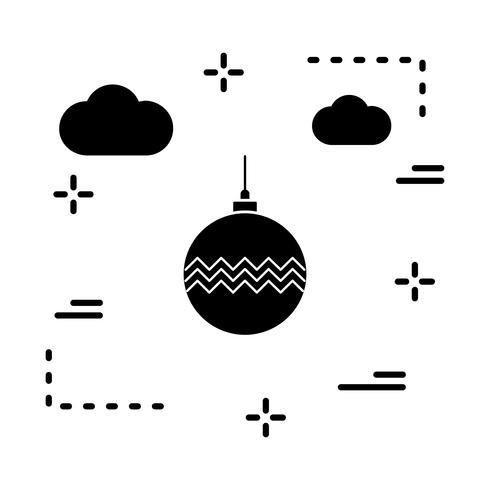 Vektor-Ball-Dekoration-Symbol vektor