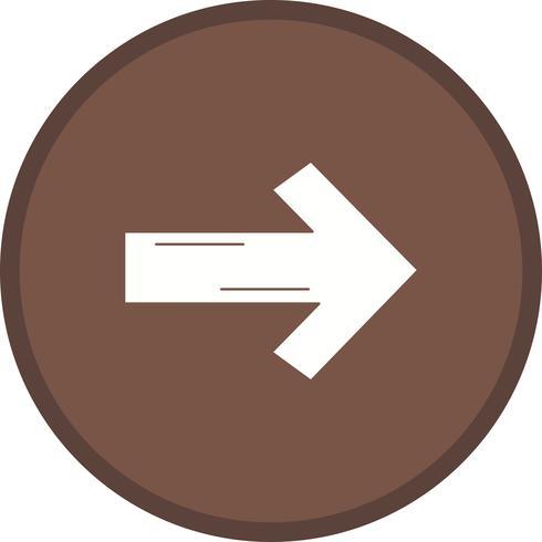Linker Pfeil gefülltes Symbol vektor