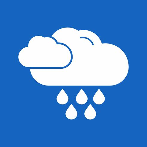 Vektor-Regen-Symbol vektor