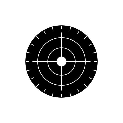 målgym svart ikon vektor