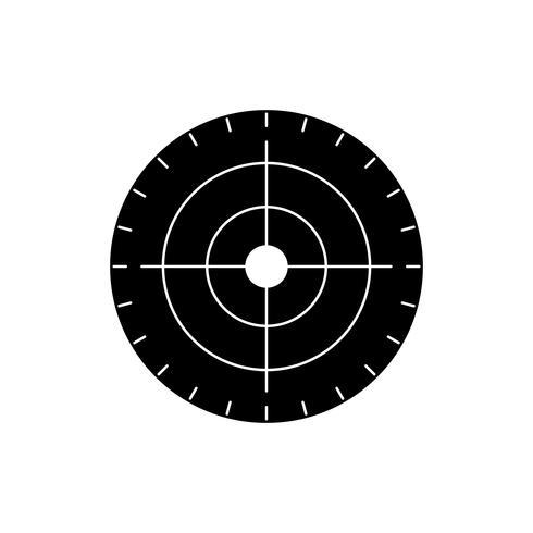 schwarzes Symbol für das Zielzeichen vektor