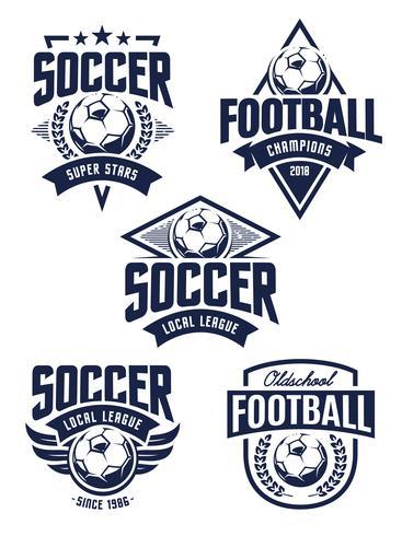 Vektor-Fußball-Embleme vektor
