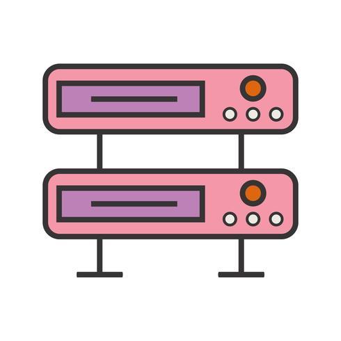Serverzeile gefülltes Symbol vektor