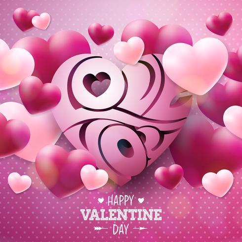 Lycklig Alla hjärtans dagdesign vektor