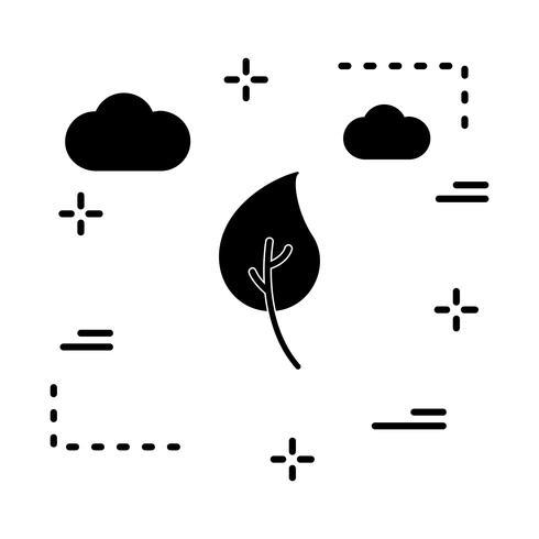 Vektor-Blatt-Symbol vektor