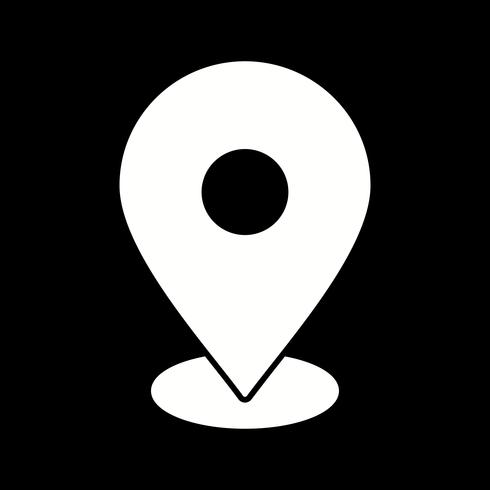 Vektor-Standort-Symbol vektor