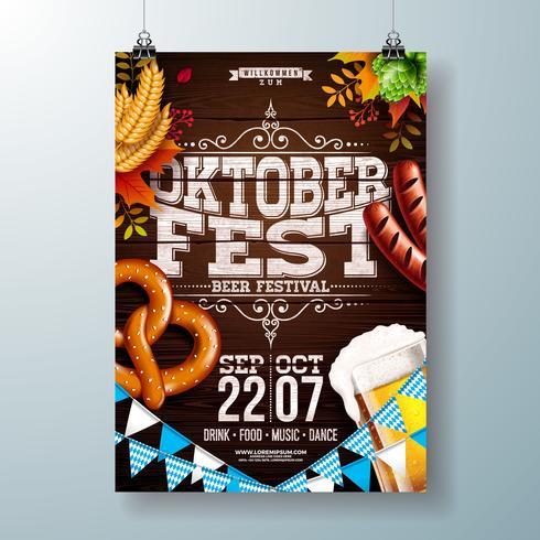 Oktoberfest Party Poster Abbildung vektor