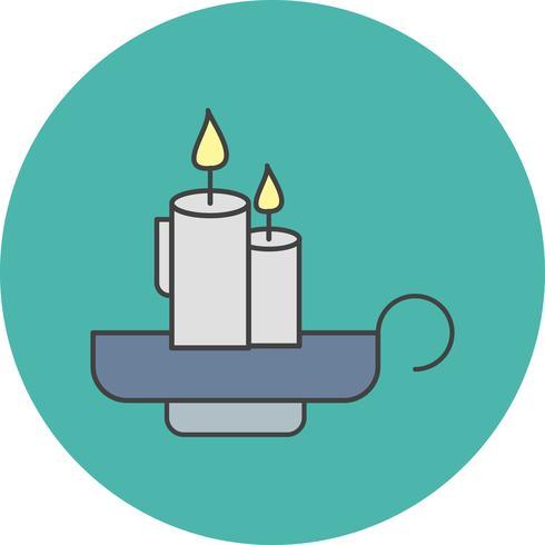 Vektor-Kerzen-Symbol vektor