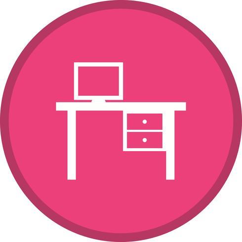 Schreibtisch gefüllt Symbol vektor