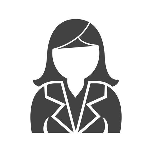 Schwarze Ikone der Geschäftsfrauen Glyph vektor