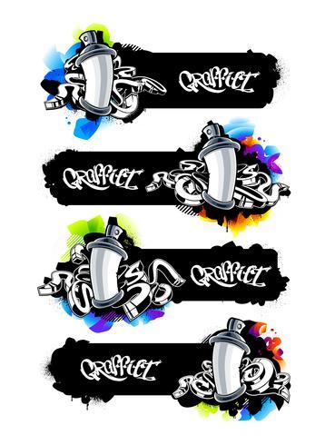 Graffiti-Banner eingestellt vektor