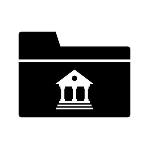 Folder Glyphe schwarzes Symbol vektor