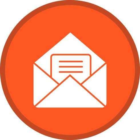 Mailfylld ikon vektor