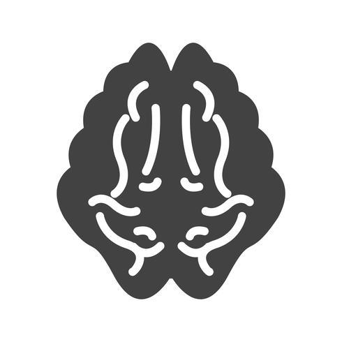 Brain Glyph schwarze Ikone vektor