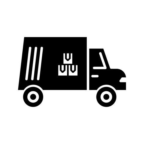 Cargo Glyphe schwarze Ikone vektor