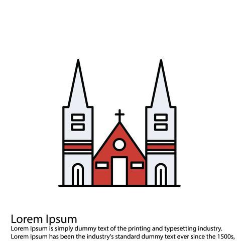 Vektor kapell ikon