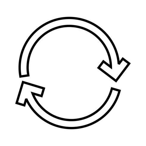 Pilar linje svart ikon vektor