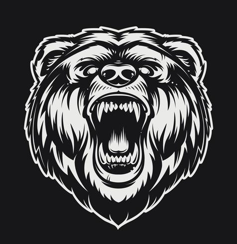 vektor roaring björn