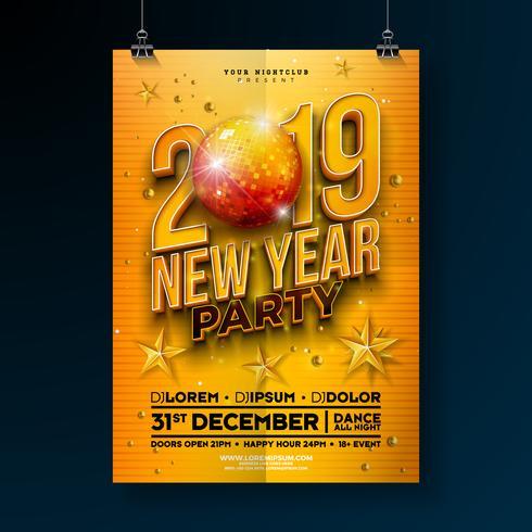Nyårsfesten Celebration Poster vektor