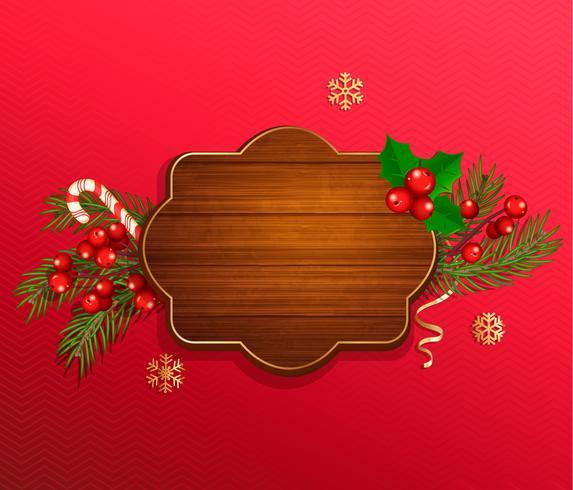 Frohe Weihnachten und Neujahr, die Vorlage wünschen vektor