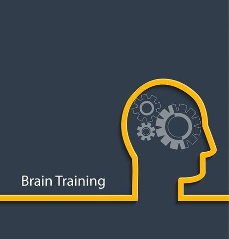 Brain träning, vektor. vektor