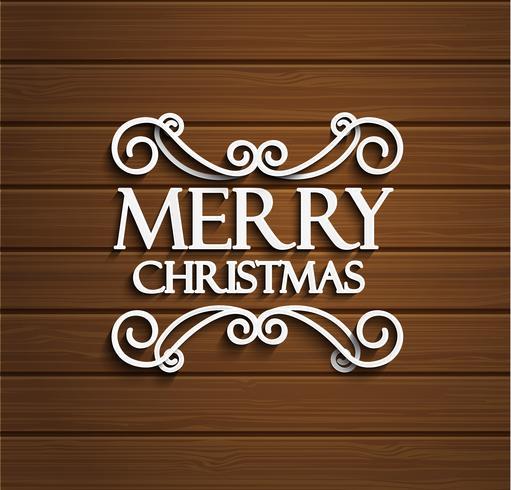 Frohe Weihnachten auf hölzernem Hintergrund. vektor