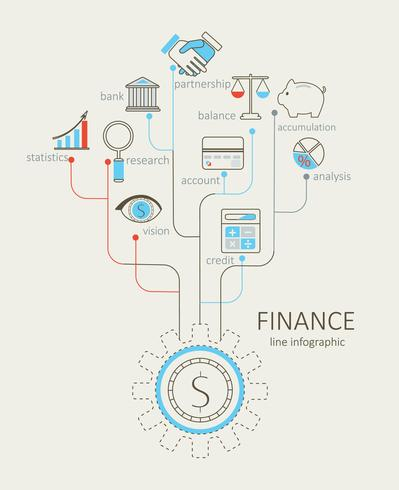 Begreppet finans. vektor
