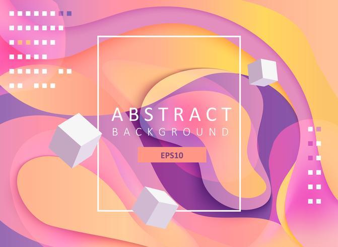 Abstrakt geometrisk gradient bakgrund med kuber. vektor