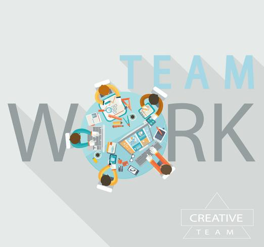 Teamwork-Konzept, Vektor. vektor